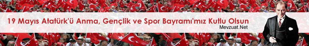 19 Mayıs Atatürk'ü Anma, Gençlik ve Spor Bayramı'mız Kutlu Olsun