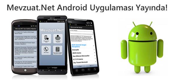 Mevzuat.Net Android Uygulaması